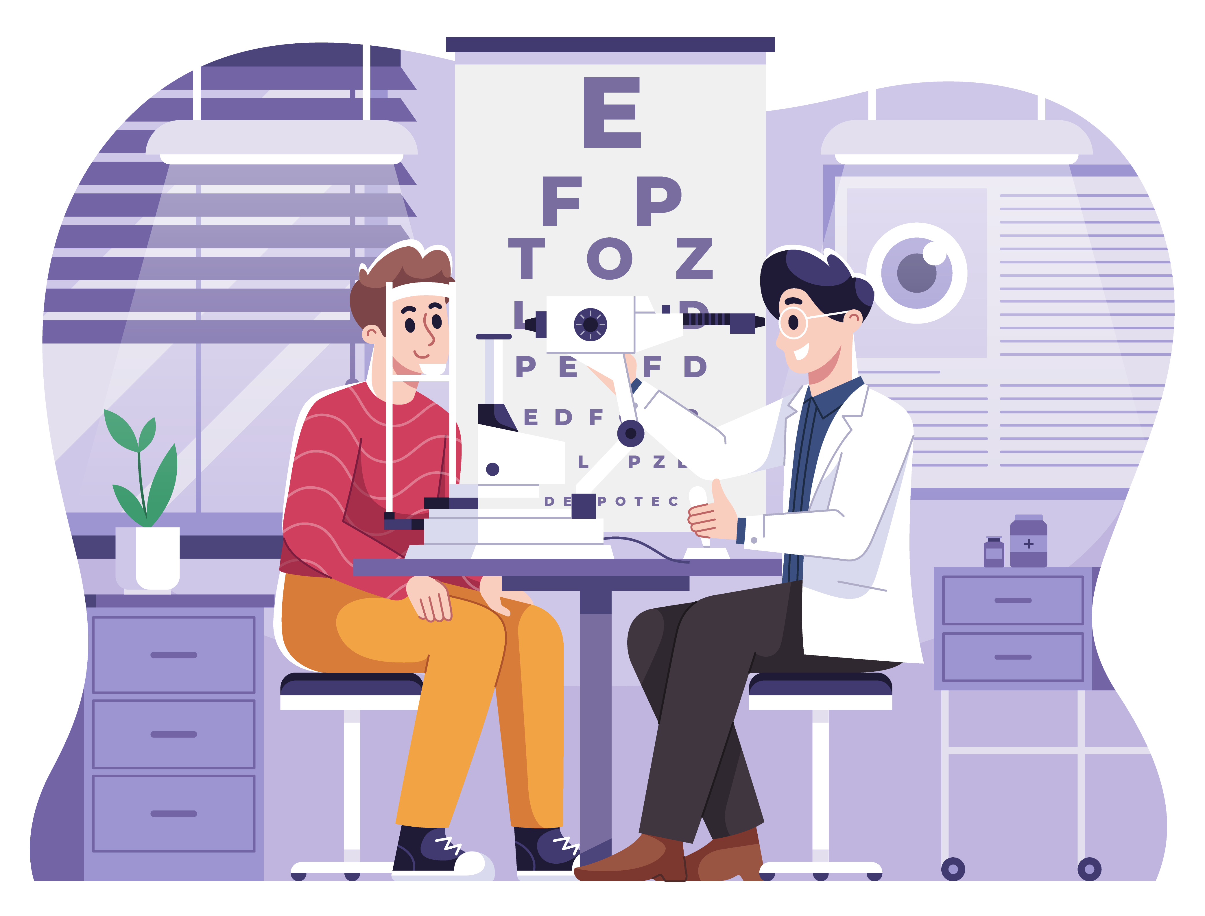 eye doctor graphic